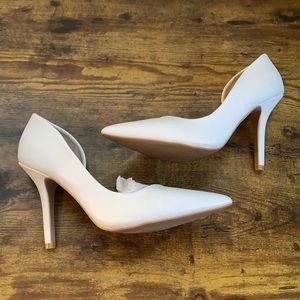 Charlotte Russe White Pointed Toe Heels